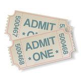 Pair of retro cinema tickets Stock Photos