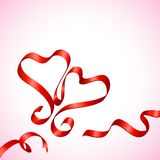 Pair of Ribbon Heart Royalty Free Stock Photos
