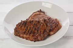 Pair of Ribeye Steaks royalty free stock image