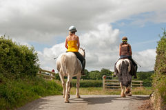 Pair of riders Royalty Free Stock Images
