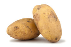 Pair of ripe potato Stock Photo