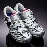 Pair of road cycling shoes Stock Image
