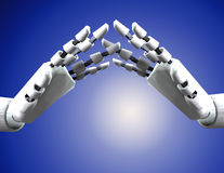 Pair Of Robo Hands 3 Royalty Free Stock Photo