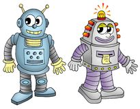 Pair of robors. Pair of robots - color illustration Stock Images
