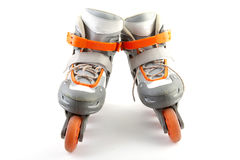 Pair of roller skates. Isolated on white background Royalty Free Stock Photography