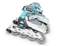 Pair of roller skates on a white Royalty Free Stock Photos