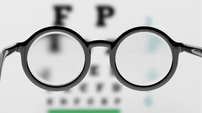Pair of round-lens eyeglasses Stock Photos