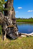 A pair of rubber boots Stock Photo