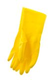 A pair of rubber gloves isolated on white. Stock Photo
