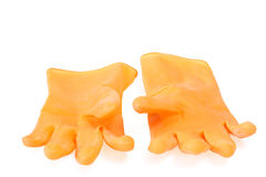 A pair of rubber gloves Royalty Free Stock Photos