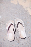 Pair of rubber sandals Stock Images