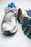 Pair of running shoes on a white background Royalty Free Stock Photos