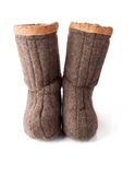 Pair of Russia Related Boots Royalty Free Stock Images