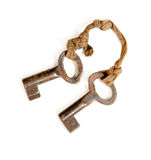 Pair of rusty keys Royalty Free Stock Photography