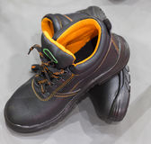 A pair of Safety Shoe. Protective shoe;selective Focus Stock Image