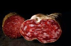 Pair of salamis Stock Photos