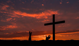 Pair of Salvation Hands Stock Image