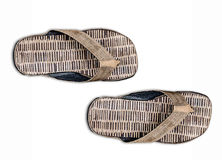 A pair of  sandal bamboo Stock Images