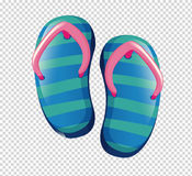 Pair of sandals in blue Royalty Free Stock Photo