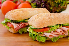 Pair of sandwiches Royalty Free Stock Photo