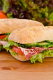 Pair of sandwiches Stock Photos