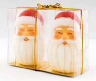 A pair of Santa Candle Royalty Free Stock Photo