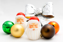 A pair of Santa Candle Stock Image
