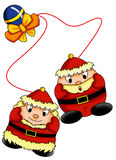 Pair of Santa Claus Stock Photos