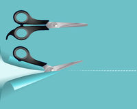 Pair of scissors Stock Photography