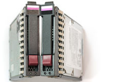 Pair of Server Hard Drives Stock Photo