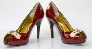 A pair of sexy red high heels Stock Photo