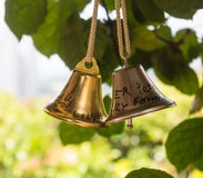 A pair of shiny bells Royalty Free Stock Images