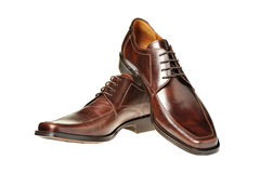 Pair a shoe a brown leather Royalty Free Stock Photo