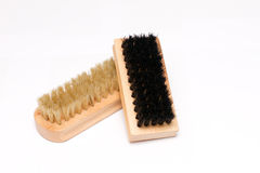 Pair of shoe brushes Royalty Free Stock Image