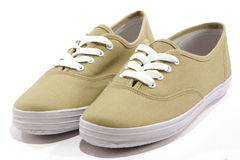 Pair of Shoes. Beige Royalty Free Stock Images
