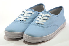 Pair of Shoes. Blue stock image