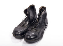 Pair of shoes of a British soldier Royalty Free Stock Images