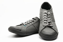 A Pair of Shoes on Display Royalty Free Stock Photography