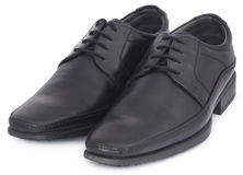 Pair of shoes for gentleman Stock Images