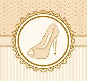 Pair of shoes with high heel Royalty Free Stock Photo