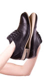 Pair shoes for men Royalty Free Stock Photos