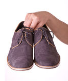 Pair shoes for men Stock Image