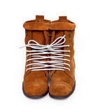 A pair of shoes tied one cod line. Symbol of emotion.  royalty free stock images
