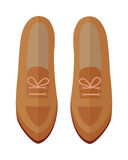 Pair of Shoes Vector Illustration in Flat Design Royalty Free Stock Photography