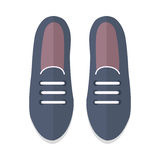Pair of Shoes Vector Illustration in Flat Design Stock Image