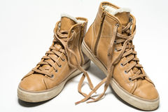 Pair of shoes on white background Royalty Free Stock Photography