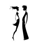 Pair silhouette vector illustration
