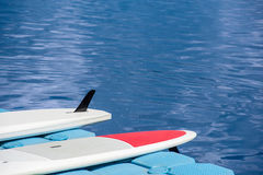 A pair of single stand up paddle in a row 03 Stock Photography