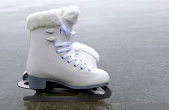 Pair of skates for figure skating. Stock Image
