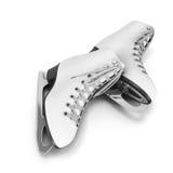 Pair of skates on a white. Background. 3d illustration Stock Photo